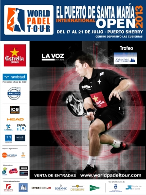 CARTEL OFICIAL WORLD PADEL TOUR PUERTO SHERRY